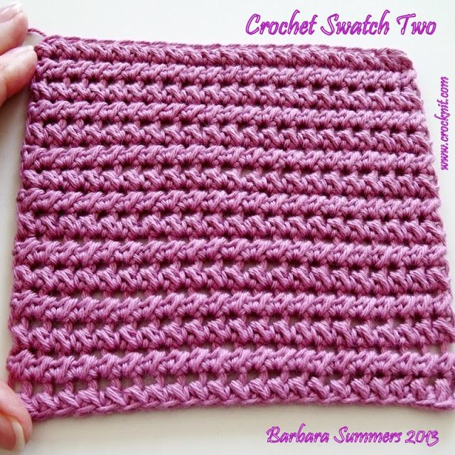 HALF DOUBLE (TREBLE) CROCHET PAIRED CROCHET Stitch Patterns Pinte ...