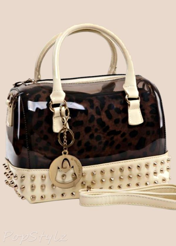 MG Collection MENTHA Gothic Studded Candy Handbag