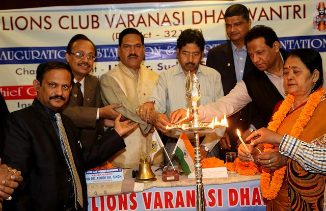 VARANASI DHANWANTRI Lions Club (India) | Inaugaration, installation and Charter Nite of LIONS CLUBS VARANASI DHANWANTRI was done on 17th Nov. 2013 under the chairmanship of District Governor 321-E.Charter president is Dr. SUDHIR SINGH