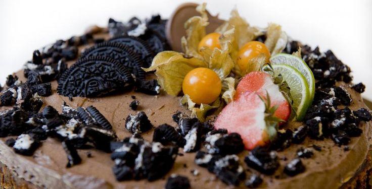 Stekt oreokake med sjokolademousse