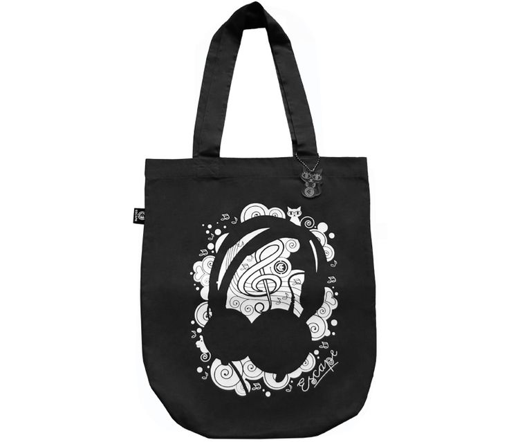 Canvas-bag Phones black from Escape Wear