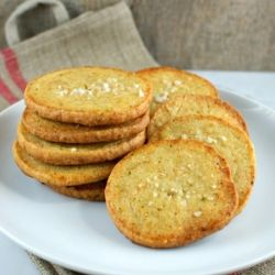 Jalapeno Cheddar Crackers from Ina's new Foolproof cookbook : )