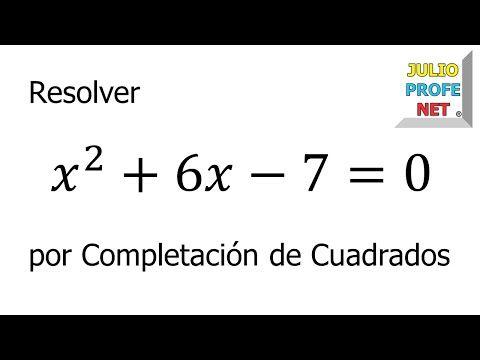 ECUACIONES CUADRÁTICAS POR COMPLETACIÓN DE CUADRADOS - Ejercicio 2 - YouTube