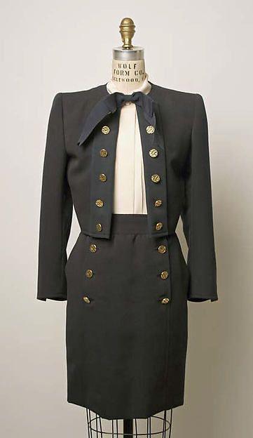 Yves Saint Laurent, Paris,  Suit : 1986 ~ The Met