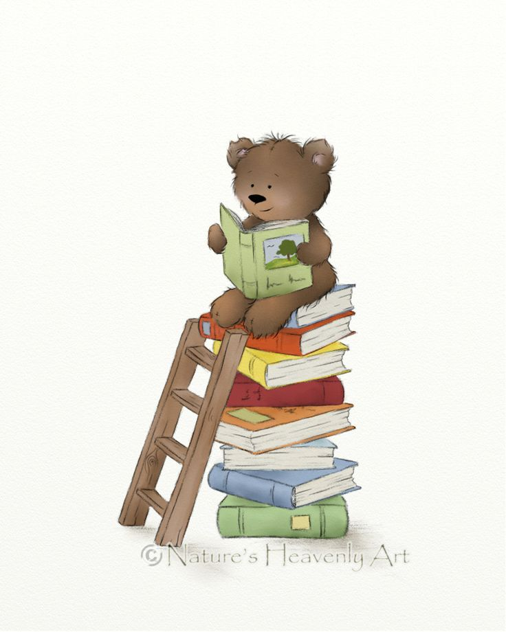 Cute Brown Teddy Bear Print Nursery Room Art by NaturesHeavenlyArt
