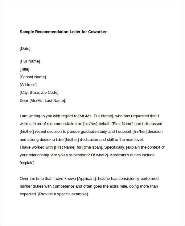 Reference Letter For Colleague from i.pinimg.com