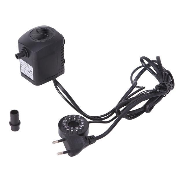 15W LED Light Submersible Water Pump Aquariums Fish Pond Fountain Sump Waterfall 800L/h Fish Tank Aquarium Pumps