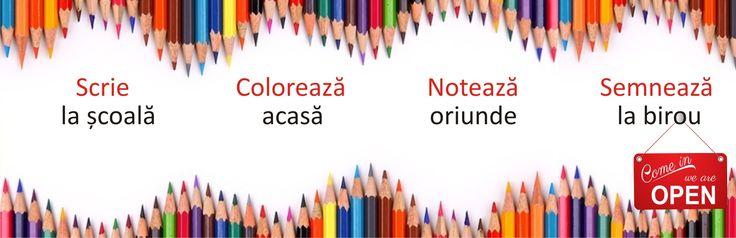 Te așteptăm în vizită! www.creionulmeu.ro Scrie cu mine ! Acasă. La școală. La birou.