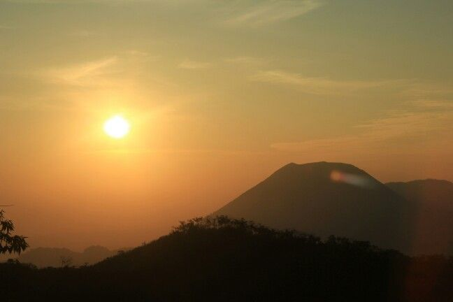 Sunrise from Mahawu Volcano - Manado
