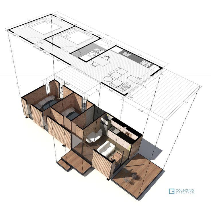 VIMOB / Colectivo Creativo Arquitectos Isométrica Explodida