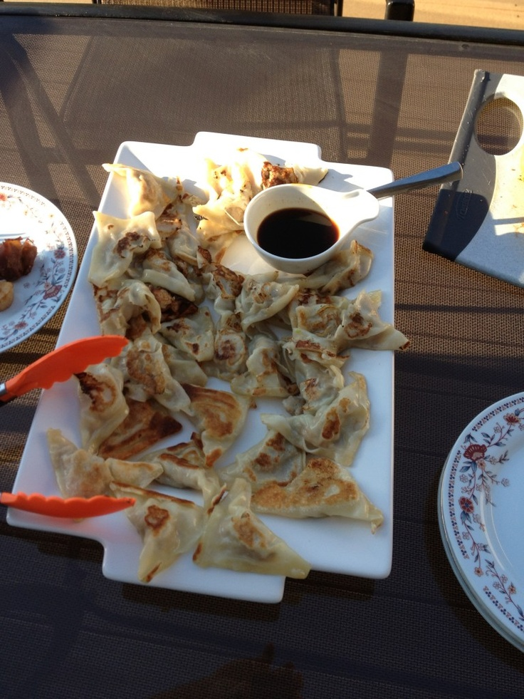 Ginger pork potstickers recipe...delicious!