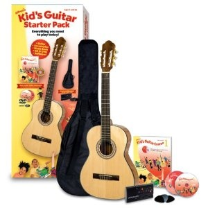 Alfred's Kid's Guitar Course, Complete Starter Pack --- http://www.amazon.com/Alfreds-Guitar-Course-Complete-Starter/dp/B004ZKY11A/?tag=affmisblog-20