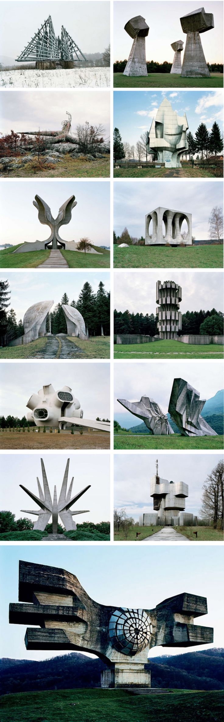 Futuristic Sculptures in Yugoslavia