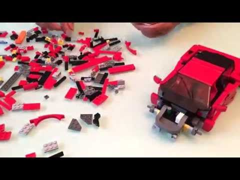 Lego Creator Ferrari F40 Time-lapse build, review and rating.