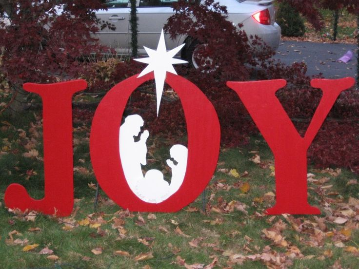 Joy outdoor pattern made this sign from a pattern from for Christmas yard signs patterns