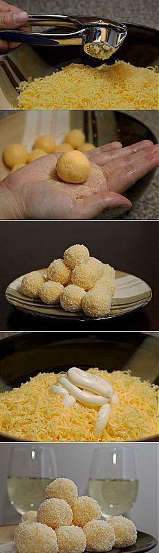 Сырные шарики. | Готовим вместе