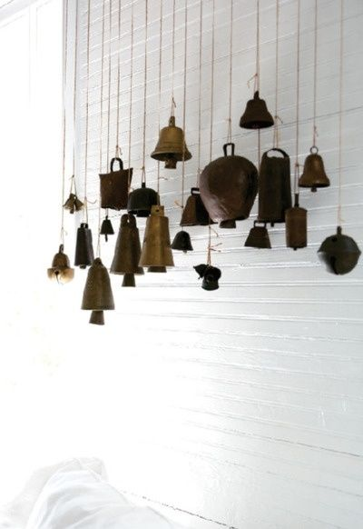 ♂ eco gentleman home deco, recycle bells interior design by La Maison Boheme