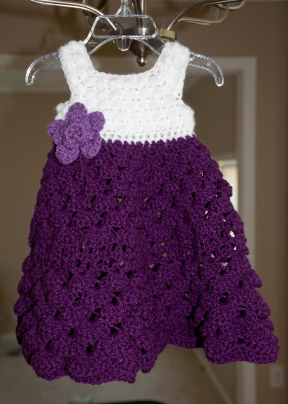 Crochet baby dress on Etsy