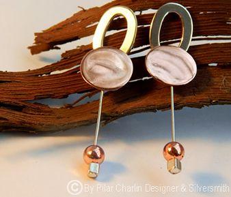 Earrings: Copper and silver / www.rescatta.com