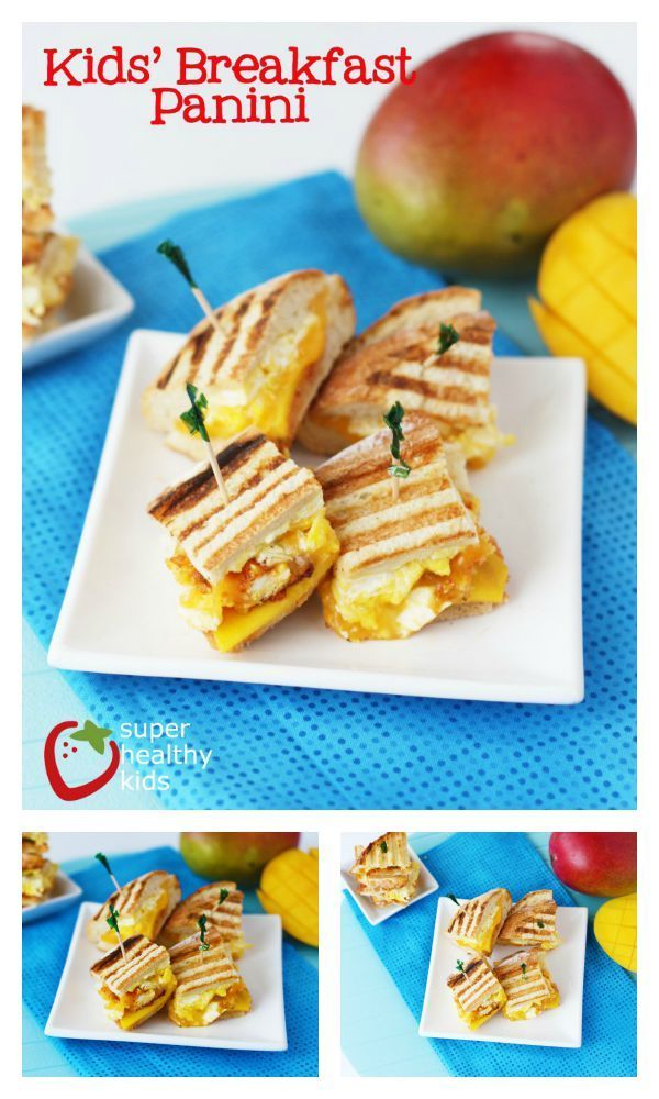 Kids Breakfast Panini Recipe - A good breakfast panini includes these must-have ingredients! http://www.superhealthykids.com/kids-breakfast-panini/