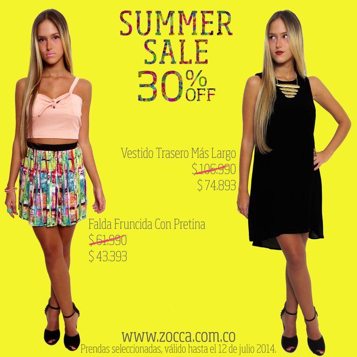 Summer Sale 30%off en www.zocca.com.co