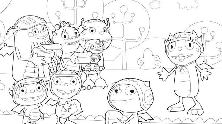 henry hugglemonster coloring page even more disney junior - Disney Jr Coloring Pages Print