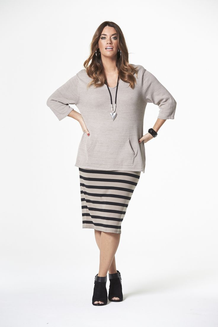 The Naturals Striped Skirt  #mysize #plussize #fashion #plussizefashion #spring #newarrivals #outfit