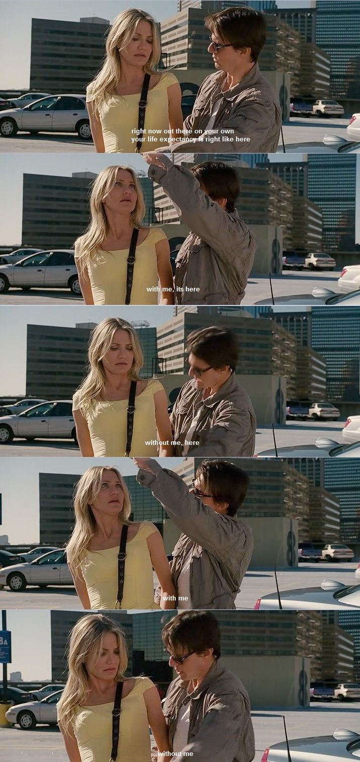 "Knight and Day. ""WITH ME... without me... WITH ME... without me"""