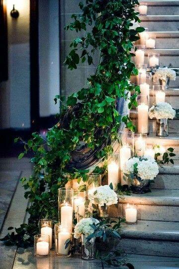 Romantic Wedding Staircase