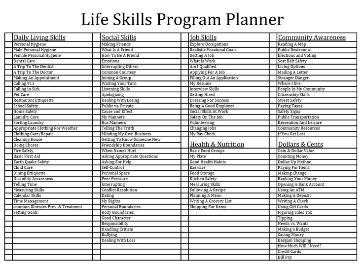 Best 25 Life Skills Ideas On Pinterest