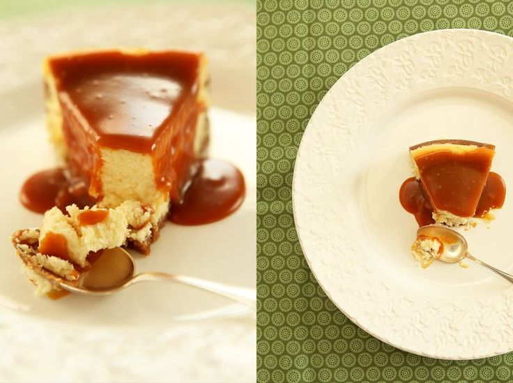 made by mary - Vit Chokladcheesecake med Smörkolasås - White Chocolate Cheesecake with Butter Caramel Sauce
