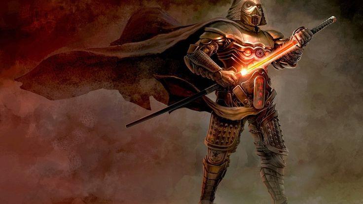 art, armor, the wind, cloak, darth vader, samurai, the sword, vader, helmet, star wars