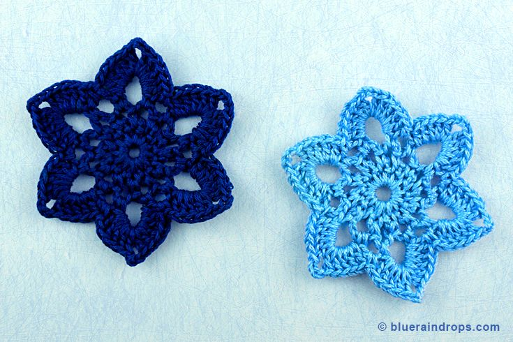 Cute Crocheted flower. You'll find the pattern here. More flowers and snowflakes in this website.