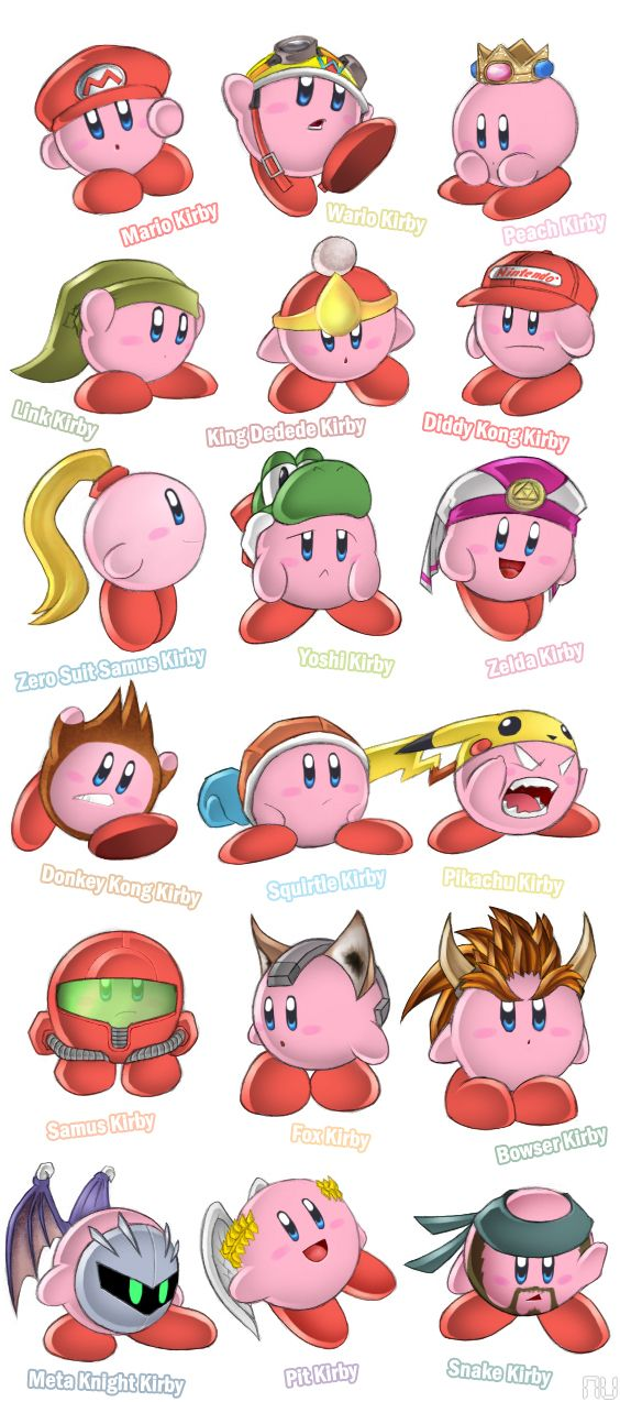 Ummm I like Peach Kirby!!! I would now like my crown and to be called this at all times :)