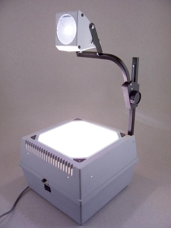 overhead projector from back when classrooms still had chalkboards instead of dry erase boards!