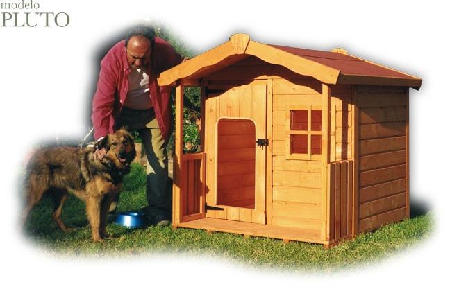 Casita de madera para mascotas modelo PLUTO. Caseta para perros grandes hasta 100 kg // Doghouse.......PLUTO.....obviously Pluto size ;)