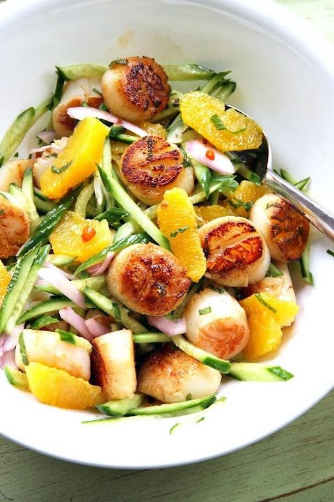 Scallop Orange Cucumber Salad