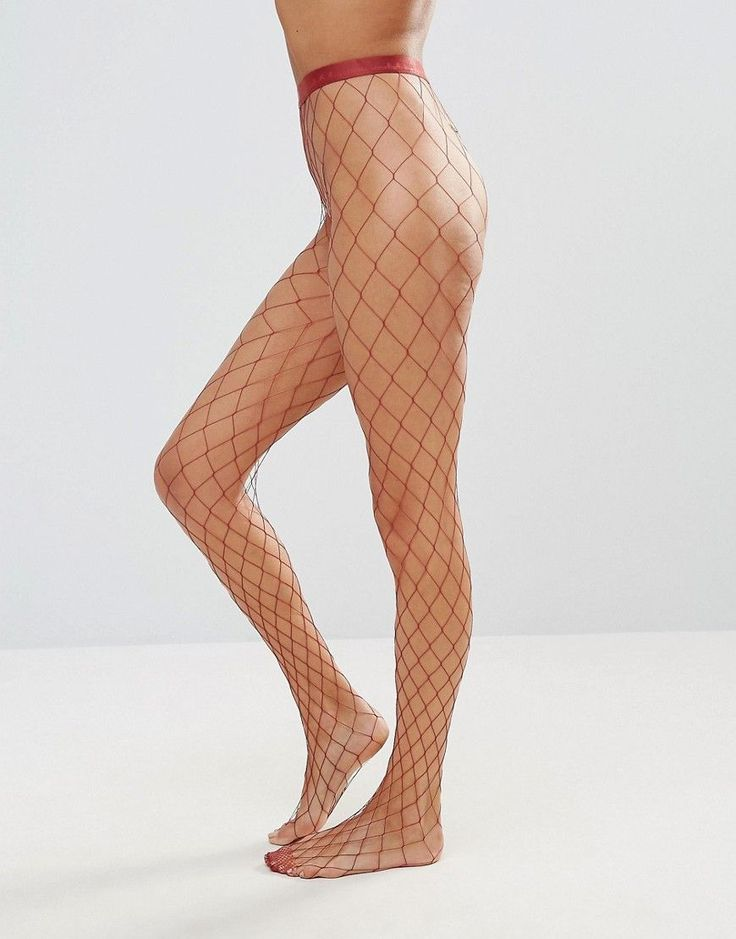 Falke Cayenne Rio Fishnet Tight - Red