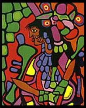 Norval Morrisseau, a founding member of the Indian Group of Seven