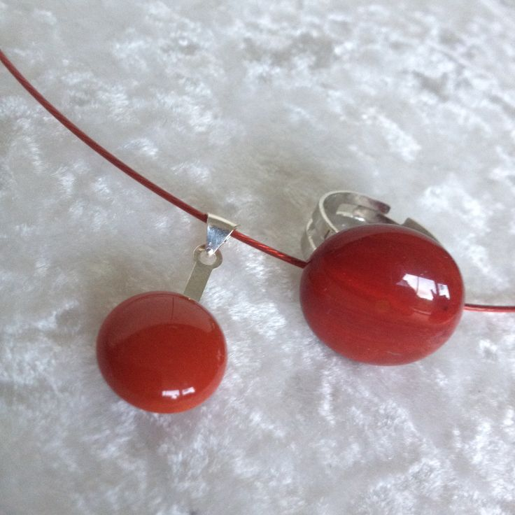#red #Jewellery #ring #fusing #glasfusing #Lis1
