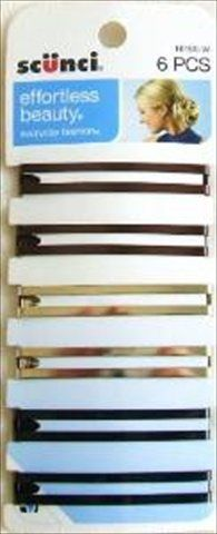 Scunci 1616003a048 Open Hair Barrettes Assorted Colors 6 Count (Pack of 3) ** Check out the image by visiting the link.