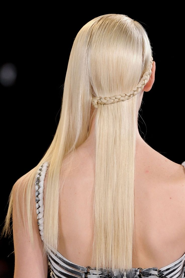 Half braided hair + 2013 trend