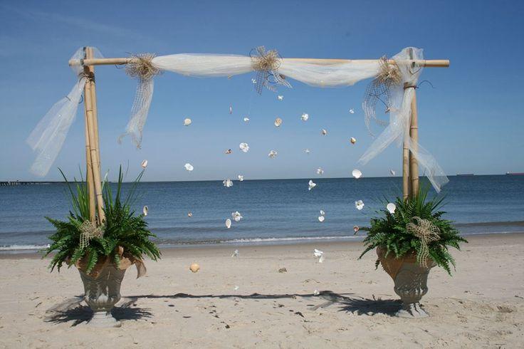 Beach wedding idea.