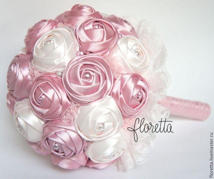 Купить Брошь букет Sofi - розовый, брошь-букет, брошь-букеты, свадебный брошь-букет