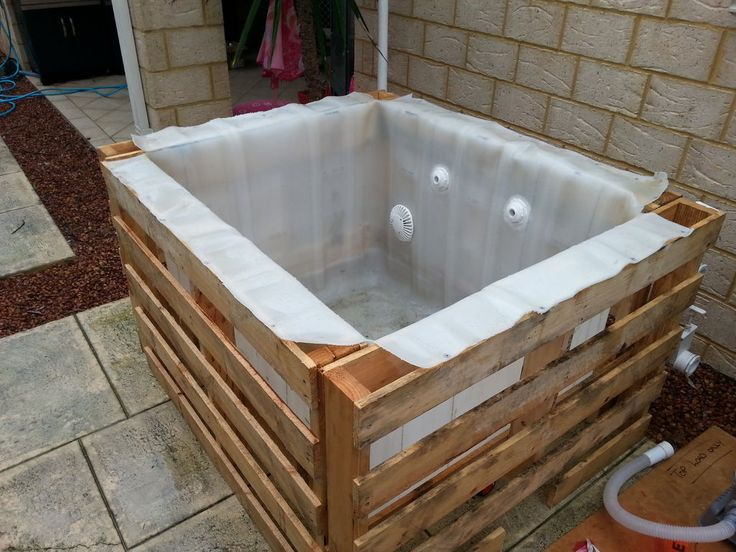 Ibc above ground plunge pool crates hillbilly and pools - How to build a swimming pool out of wood ...