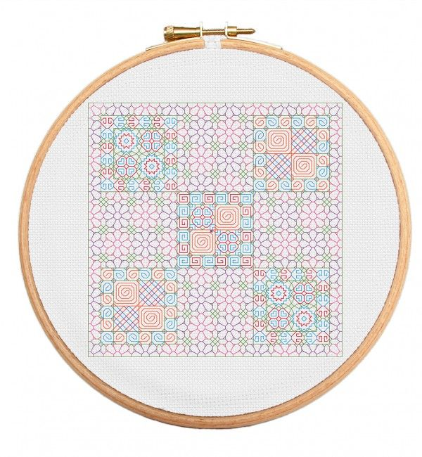 Our biggest ever Blackwork cross stitch pattern featuring a lovely flower arrangement - an expert pattern for dedicated stitchers. https://stitchme.gifts/product/flowers-large-format-blackwork-cross-stitch-pattern/