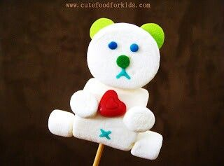 Bakers day... teddy marshmallow sticks... super cute!