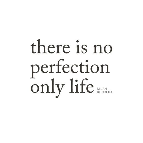 There is no perfection, only life | MILAN KUNDERA