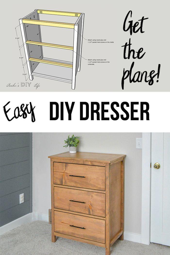 Easy 3 Drawer Diy Dresser With Plans Anika S Diy Life Diy Dresser Plans Diy Dresser Dresser Plans