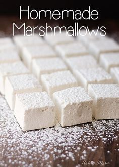 homemade marshmallows are easy to make and taste amazing. This recipe is super easy to make #recipe
